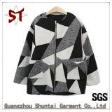 Lady Fashion Wool Jacket Fleece Down Coat