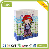 Coated Paper Litte Girl Sweet Candy Shopping Gift Paper Bag