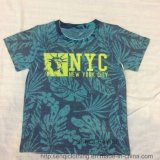 Summer Boy Short Sleeve T-Shirt with Printing Coconut Trees Sq-6226