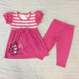 Flower Children Clothes in Kids Suit with Print in 70% Pant Sq-6661