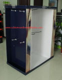 4-Side Customized Cardboard Pallet Display with Metal Hooks for Garments