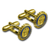 Personalized Metal Embossed Gold Plated Cufflink Jewelry (CL04)