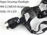 Super Focusing 1, 200 Lumens Xml-T6 LED Head Lamp Headlight