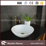 2015 Pure White Marble Vanity Sinks for Bathroom