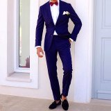 Slim Fit Navy Mens Fashion Wedding Dress Suit