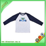 Fashion Design Blue T Shirt with Screen Printing (customize)