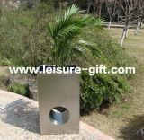 Fo-9017 Rectangular Brushed Stainless Steel Flower Pot