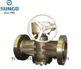 Plug Valve Flange Connection Worm Gear