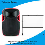 Popular 12 Inches Portable LED Projection Speaker Box with Battery