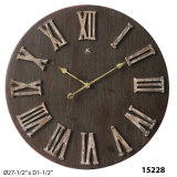 Antique Round Hanging Wooden Clock