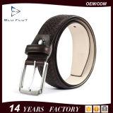 Fashion Braided Design Custom Logo Genuine Cowhide Leather Waist Belt