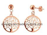 Life Tree Gold Earrings Jewelry