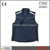 Multi Pocket Work Vest Mens Workwear Waistcoat Sleeveless Jacket