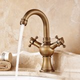 Flg Basin Single Handle bathroom Faucet with Solid Brass