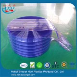 Safety Flexible ESD Soft Blue Double Ribbed Plastic PVC Strip Curtain Rolls
