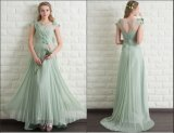 Cap Sleeves Party Prom Gown Minit Bridesmaid Evening Dress E201685