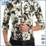 Long-Sleeved Printing Shirt Men Slim Shirt