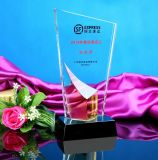 High Quality Crystal Glass Trophy for Business Gift