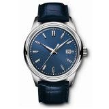 Leather Bracelet Men′s Stainless Steel Wrist Watch Customed Logo Quartz Watch72037