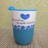 Cartoon Creative Ceramic Mug Coffee Cup with Sleeve with Lid