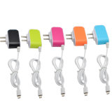 3 USB LED Candy Color Mobile Phone for Samsung Android Travel Micro USB Charger