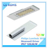 Ultra-Slim 120W Philips Lumileds LED Street Lighting with Ce RoHS Certification