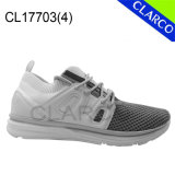 Men Sport Sneaker Running Shoes with Flyknit Mesh Upper and Cushion Sole