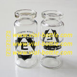 Black Image and Products Name Print on Glass Vial 10ml