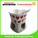 Cheese Fondue Set with High Quality in Porcelain