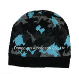 Camo Beanie with Black/Gray/Turquoise Color