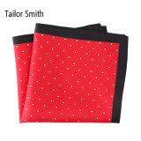 Fashionable Silk Polyester Dots Printed Pocket Square Hanky Handkerchief (SH60A)