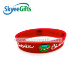 Promotional Embossed Silicone Bracelet with Customized Logo