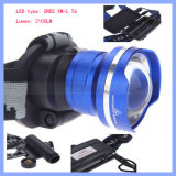 2100lm CREE T6 Rechargeable LED Zoom Headlamp
