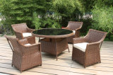 Soft Cushion Lounge Sofa Coffee Table Rattan Outdoor Furniture (FS-2731+2732)