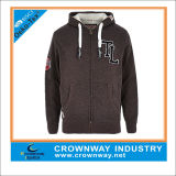Thick Camofleece Winter Mens Zip up Hoodies with Custom Patch