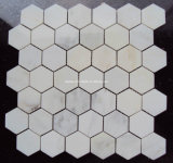 Hexagon White Marble Mosaic and Mosaic Tiles