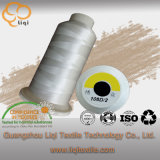 100% Polyester Filament Nature White Embroidery Thread Customized Color Accepted