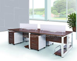 Modern Design Wooden Table Computer Workstation Cubicle Office Partition (HF-E539)