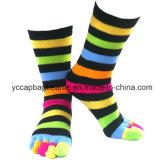 Cotton Cheap Custom Half Tube Five Open Toe Candy Socks