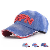 Fashion Patch Embroidered Cotton Denim Baseball Cap (YKY3050)