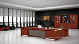 Modern Design Layout with Wooden Bookcase Executive Office Desk (HF-FB16736)