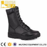 2017 New Design Best Black Genuine Leather Waterproof Military Combat Boot