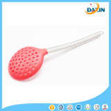Wholesale Stainless Steel Handle Food-Grade Silicone Slotted Ladle for Kitchenware