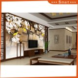 3D Stereoscopic Carp White Flower Printed Oil Painting