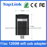11AC 2t2r 1200Mbps High Speed 2.4G/5.8g USB 3.0 Wireless WiFi Dongle/ WiFi Adapter with Two External Antenna