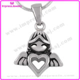 Ijd8214 Flying Girl Stainless Steel Cremation Pendant Necklace Heart Ashes Keepsake Memorial Locket
