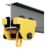 High Quality Wider I-Beam Manual Push Plain Running Trolley, Hand Push Beam Track Roller Trolley for Chain Hoist