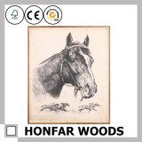 Animal Horse Classical Decoration Painting in Wood Frame