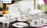 30PCS Square Porcelain Elegant Dinnerware Set