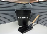 Ash Bucket and Shovel with Lid